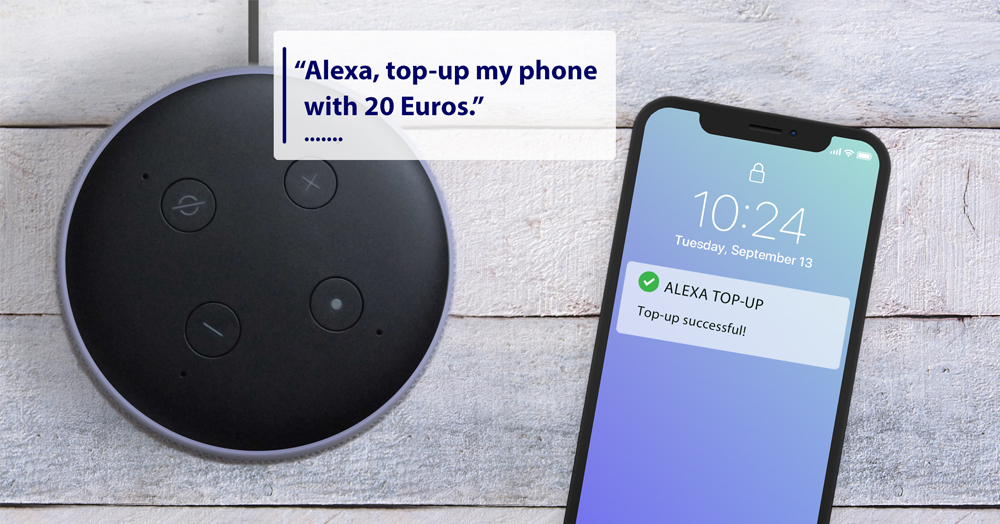 Alexa and mobile used for top-up